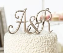 Gold Monogram Cake Toppers